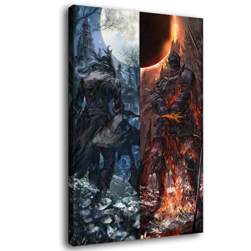 Dark Souls and Bloodborne Leinwand-Kunst-Poster und Wand-Kunstdruck, modernes Familienschlafzimmerdekor-Poster