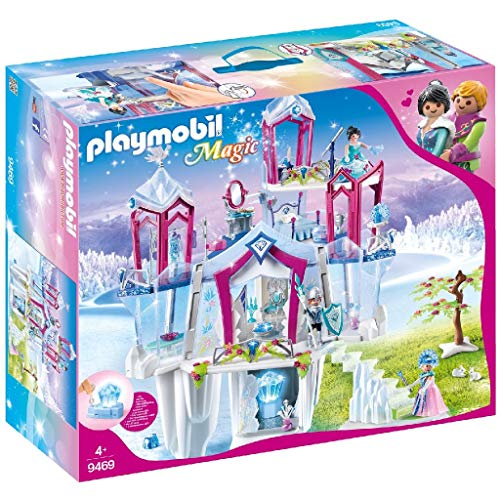 PLAYMOBIL Magic Palacio de Cristal con Cristal Luminoso, Incluye Ropa que Cambia de Color, A partir de 4 años (9469)