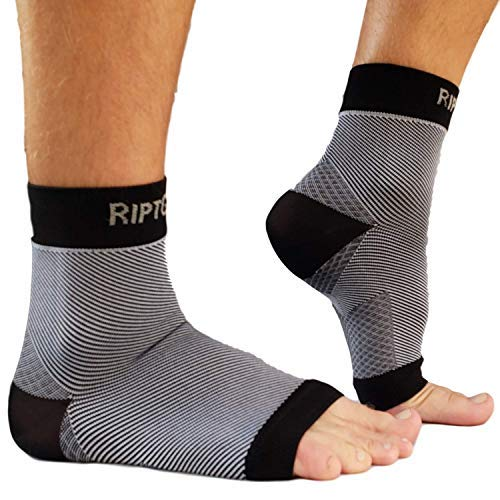 RiptGear Plantar Fasciitis Socks for Women and Men - 1 Pair Plantar Fasciitis Sleeves for Heel and Foot Pain with Ankle Compression (Large)