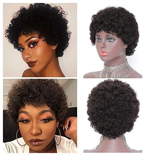 BLISSHAIR Kinky Curl Wigs Perruques de Cheveux Humains Pour les Femmes Noires Brésiliennes Perruques Bob Cheveux Humains Courts Pixie Cut