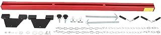 Qiilu Adjustable Engine Hoist/Shop Crane/Cherry Picker Load Leveler with Chains Repairing Hanger 1100lbs/500KG Capacity Dual Hook