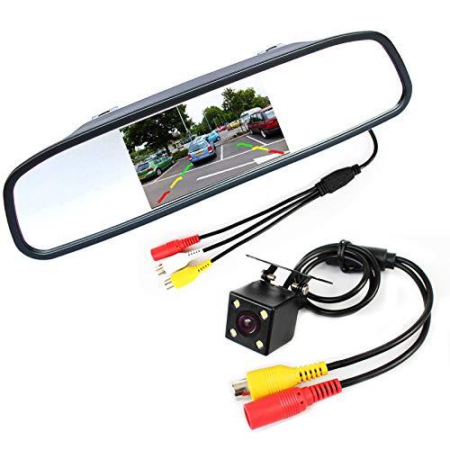 Binnenspiegel met ingebouwd LCD scherm + Achteruitrij camera
