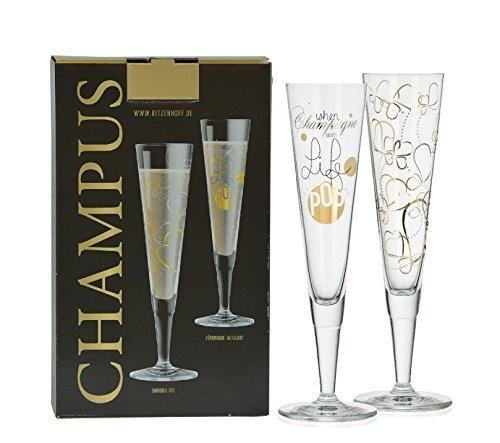 Ritzenhoff 2er Set Design Champagnerglas - Sektglas, Champus Design S. Ito & V. Jacquart, A0371660