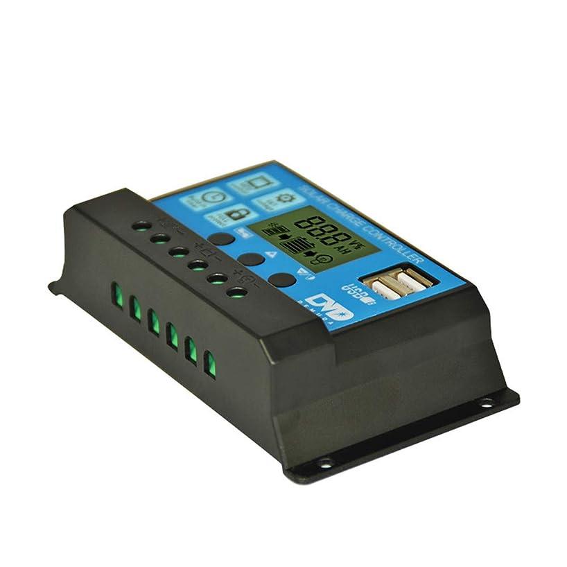 Yu2d ???? 20A Dual USB Solar Panel Battery Regulator Charge Controller 12V 24V(Black)