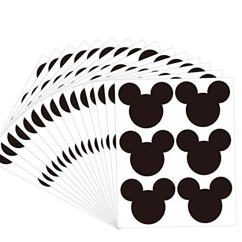 Mickey Mouse Stickers Mickey Christmas Holiday Present Stickers 2.97 x 2.5 Inch Vinyl Mouse Ear Chalkboard Labels - 90 Pack