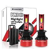 KOOMTOOM H1 Faros LED Can-bus Sin errores Kit de conversión de bombillas exteriores automáticas de alta potencia Reemplazar faros halógenos HID - 90w 16000LM 6500K-1RY Garantía
