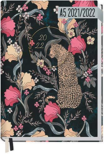 Chäff-Timer Classic A5 Kalender 2021/2022 [Hidden Leopard] Terminplaner, Terminkalender 18 Monate: Juli 2021 bis Dez. 2022 | Wochenkalender, Organizer mit Wochenplaner | nachhaltig & klimaneutral