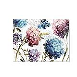 XIANGPEIFBH Cartel Colorido Hermoso Hortensia Lienzo Pintura Pared Arte Imagen para Sala decoración...