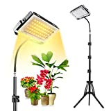 xingruyu Grow Light with Stand, Full Spectrum 150W LED Floor Plant Light for Indoor Plants, with On/Off Switch, Flexible Gooseneck, Adjustable Tripod 15-47 inches