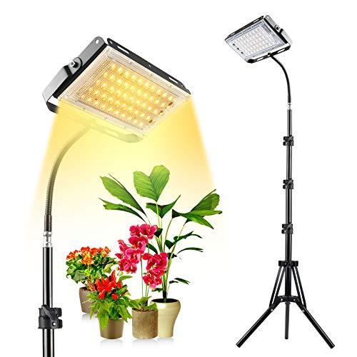 Pflanzenlampe LED, Pflanzenlicht mit Ständer, Xingruyu Vollspektrum 150W LED Bodenpflanze Wachstumslampe für Zimmerpflanzen, mit Ein/Aus-Schalter, flexiblem Schwanenhals, verstellbarem Stativ