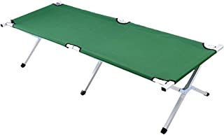 Single Folding Bed Camping Bed Portable Oxford Cloth Steel Pipe Camp Bed Accompanying Bed