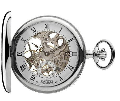 Jean Pierre cromado Half Hunter Esqueleto Mecánico Reloj de bolsillo. La Federación _ g303cm