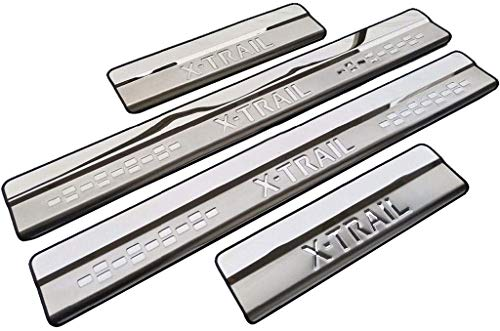 YCGLX 4Pcs for Nissan X-Trail X Trail XTrail T32 2014-2019 Stainless Steel Car Door Sill Scuff Plate, Protector Kick Pedal Threshold Bar Trim Decoration Styling Accessory