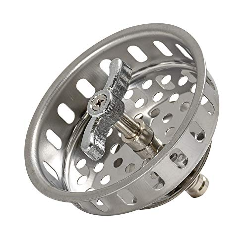 EZ-FLO 30047 Spin & Seal threaded post stainless steel replacement basket, 2.6 x 3.45 x 3.45, White