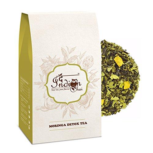 The Indian Chai - Moringa Detox Loose Leaf Herbal Tea, with Indian Gooseberry And Basil, (100g/3.53oz)