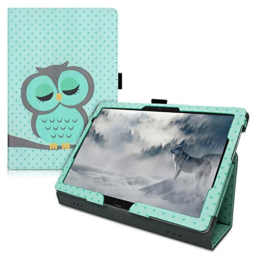 kwmobile Funda Compatible con Huawei MediaPad M5 Lite 10 - De Cuero sintético con Cierre magnético y búho dormilón