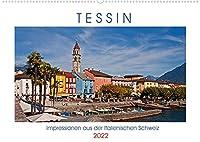Tessin, Impressionen aus der Italienischen Schweiz (Wandkalender 2022 DIN A2 quer): Fotografische Eindruecke aus der italienischen Schweiz mit bildschoenen Doerfern, Taelern und Burgen (Monatskalender, 14 Seiten )