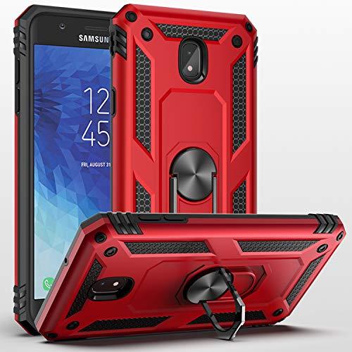SUSAA Galaxy J7 2018 Case,Samsung Galaxy J7 Aero/J7 Top/J7 Crown/J7 Aura/J7 Refine/J7 Star/J7 Eon Case, 360 Degree Rotating Ring Holder Kickstand Case for Galaxy J7 2018 Red
