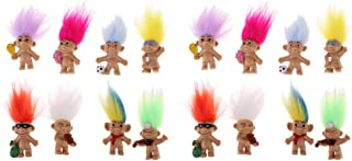 Fityle Vintage 16 Pieces Colorful Lucky Troll Doll Leprocauns Dollhouse Mini Figures Toy – Party Favors, Collections, Arts and Crafts