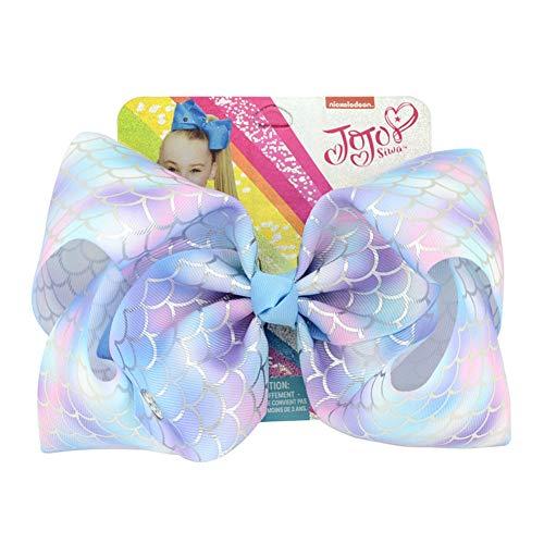 JoJo Siwa Pince à cheveux avec nœud en forme de licorne multicolore