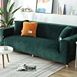 Stretch Sofa Slipcover, Couch Sofa Cover Velvet Water Resistance, Ultra Soft Elastic Bottom