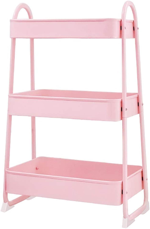 Kitchen Mobile Racks, Stroller Bedroom Storage Beauty Multi-Layer Girl Push Storage Shelf