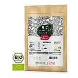 NATURAL VITAMINS® Bio Flohsamenschalen I Premium Qualität: 99+% Reinheit zertifiziert I Vegan, Low-Carb, Ballaststoffreich, Glutenfrei, Ohne Zusätze, Nachhaltig angebaut I 500g