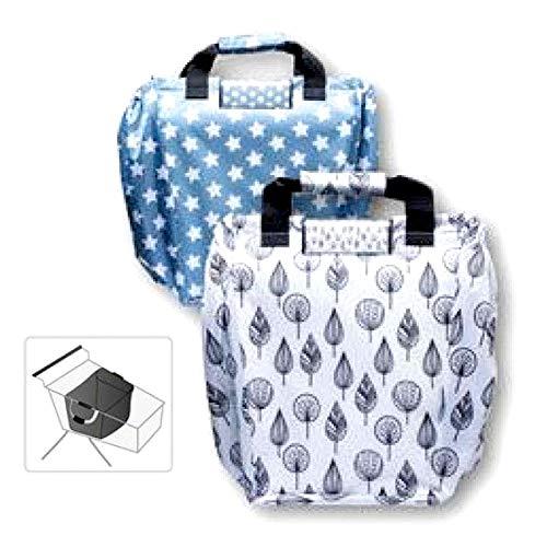 HAC24 2er Set Einkaufswagentasche Einkaufswagen Einhängetasche Faltbare Shopper Tasche Einkaufstasche