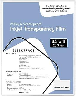 Sleek Space Milky Transparency Film for Inkjet Printers, Screen Printing | 100% Waterproof, Anti-curl, Anti-static | High ...
