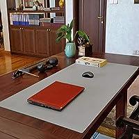 拡張 大きな 革 マウスパッド,多機能 デスクマット プロテクター 滑り止め デスクパッド 防水 マウスパッド 用 オフィス ホーム-31x59インチ-灰色. 80x150cm(31x59inch)