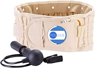VOLLUCK Decompression Back Belt Lower Back Brace Inflatable Lumbar Support Back Pain Relief (29 - 49 Waist)