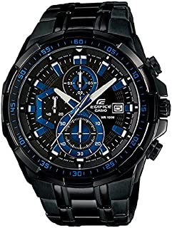 Edifice Watch for Men by Casio, Analog, Chronograph, Metal, Black, EFR539BK-1A2