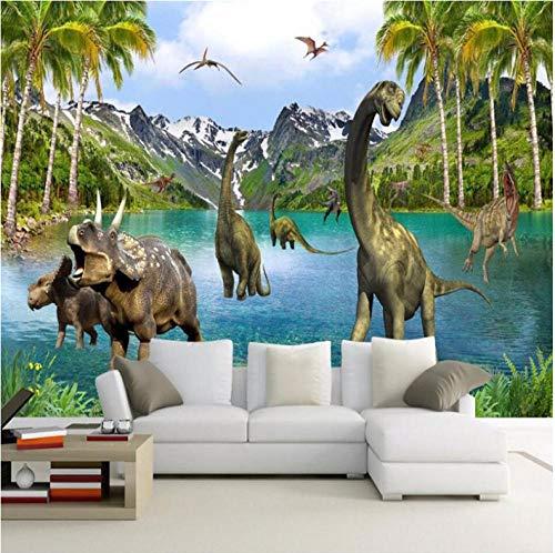 Papel Pintado Fotomural Dinosaurio 3D Fotografico tejido no tejido Decoración de Pared Arte decorativos Murales moderna de Diseno,140x100 cm(W x H)