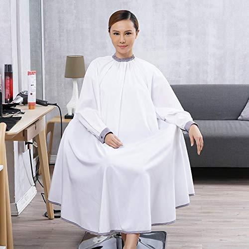 RMI Lange Mouw Haar Cape Snap Knop Verstelbare Kraag Manchet Waterdichte Jurk Schort Voor Barber Salon Styling Doek