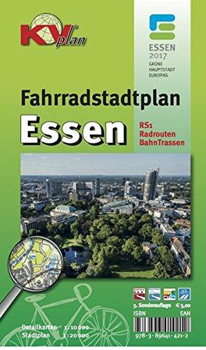 Fahrradstadtplan Essen: 1:20.000 Maßstab inkl. RS1, allen Radrouten und ehem. Bahntrassen (KVplan Sonderausgaben / Reiterkarten, Atlanten)