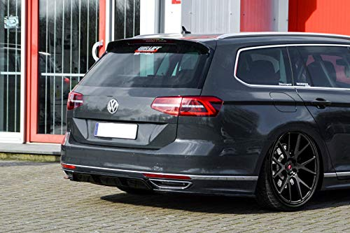 Performance Rear Bumper diffuser with side splitters For Passat 3G B8 R-Line 2014-2019