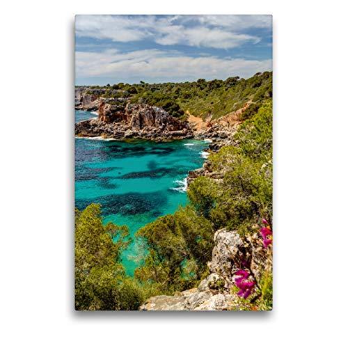 Premium Textil-Leinwand 50 x 75 cm Hoch-Format Mallorca wundervolle Cala S´Almunia | Wandbild, HD-Bild auf Keilrahmen, Fertigbild auf hochwertigem Vlies, Leinwanddruck von Jürgen Seibertz