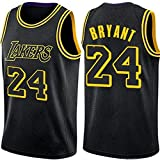 DIMOCHEN Movement Ropa Jerseys de Baloncesto para Hombres, NBA Los Angeles Lakers 24# Kobe Bean Bryant, cómodo, Camiseta Uniformes Deportivos Tops (Size:XXL,Color:G1)