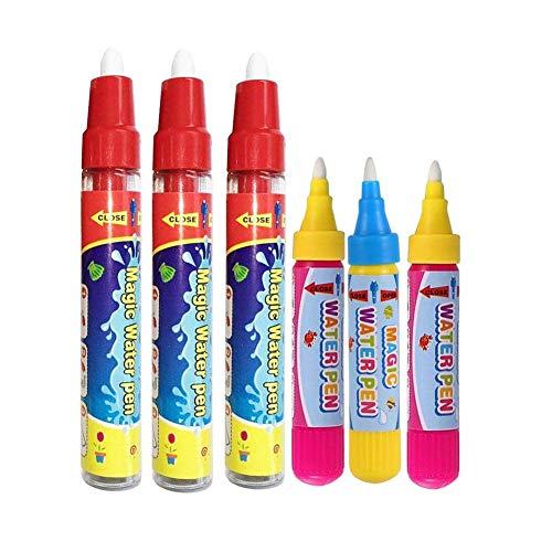 BENGO Confezione da 6 Penne di Aqua per Doodle Tappeto Magico Aqua