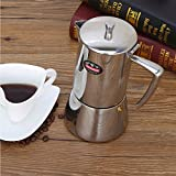 コーヒーフィルターコーヒーカプセルフィルター、コーヒーメーカーハンドブリューコーヒーポット、ステンレススチールコーヒーフィルターポット、コーヒーフィルターポット耐熱コーヒーポット,300ml