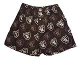 Oakland Raiders NFL Team Logo Boxer Shorts Mens Black Printed Underwear (Large)