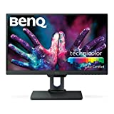BenQ PD2500Q - Monitor Profesional para Diseñadores de 25'  2K QHD (2560x1440, IPS, 100% Rec.709/sRGB, CAD/CAM, HDMI, DP, DP out, USB 3.1, Altura ajustable, Eye-care, Flicker-free, antireflejo) - Gris