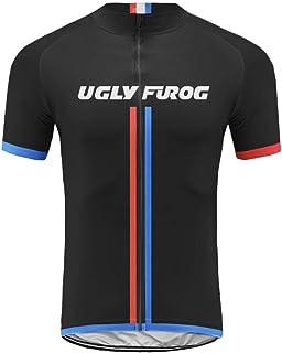 Uglyfrog Verano Bike Wear MTB Maillot de Ciclismo para Hombre Manga Corta Transpirable Bicicleta se Seca rápidamente Ropa DXMX06