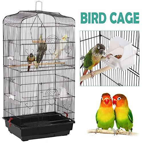 Yaheetech 36-inch Portable Hanging Medium Flight Bird Cage for Small Parrot Cockatiel Sun