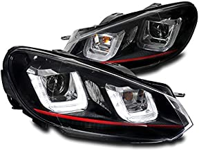 ZMAUTOPARTS Volkswagen Golf / GTI / Jetta wagon DRL LED Bar Projector Headlights - Black