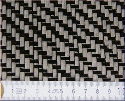 Carbongewebe 420g -Köper-, Breite:100cm breit