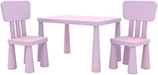 Beautiful Tables Desk Stand Toys Children's And 2 Chairs Set PP Kids Furniture Theme Playroom Multi-Colour Multifunctional...