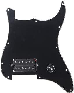 Lovermusic Loaded Guitar Pickguard Black, W/One Humbucker Knob