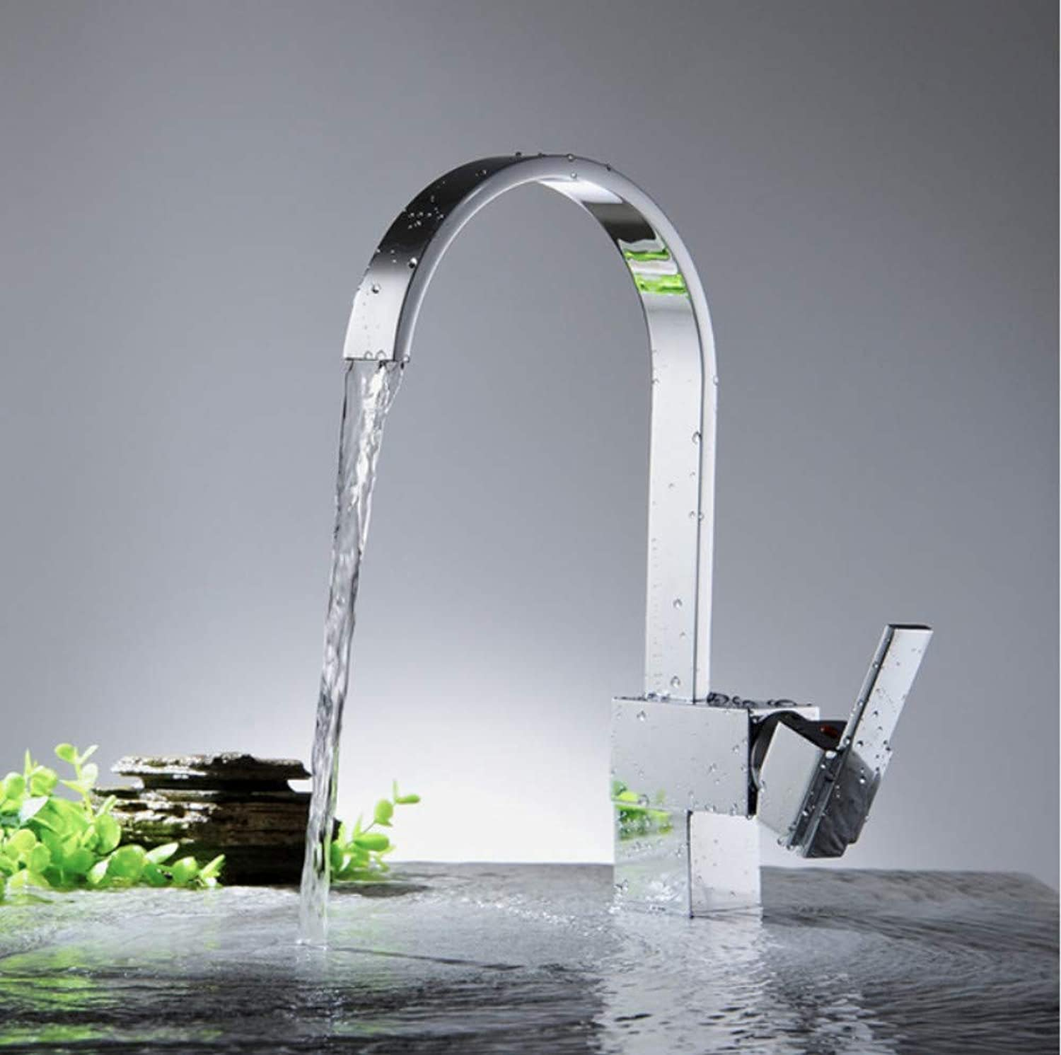 Zlxzlx Faucet Tap Sink Mixer Tap Waterfall Faucet Kitchen Faucets Cold Water and Hot Water