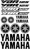 ALOBA kit pegatinas Vinilo para YAMAHA YBR 125 vinilo de corte con papel transportador, tamaño de lamina grande varios colores disponibles (GRIS)